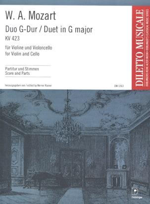 Duo G-Dur KV. 423 - Violine violoncello MOZART Partition laflutedepan