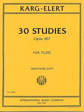 30 Studies, opus 107 - Flute - Sigfrid Karg-Elert - laflutedepan.com