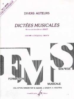 Dictées Musicales Volume 4 - Prof. Jean-Clément Jollet laflutedepan