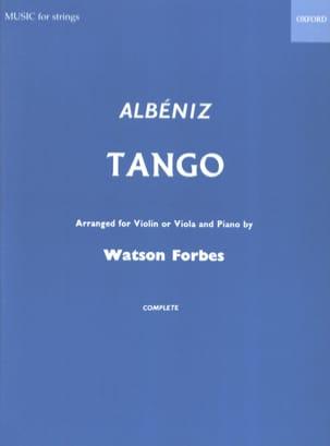 Tango ALBENIZ Partition Violon - laflutedepan