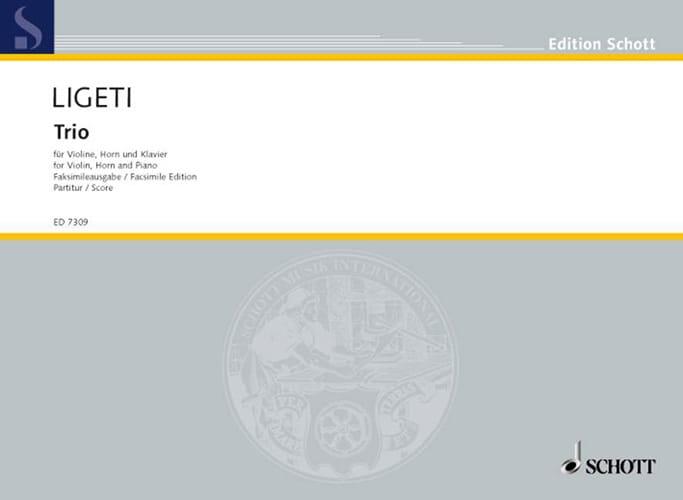 Trio für Violine, Horn und Klavier - Partitur - laflutedepan.com