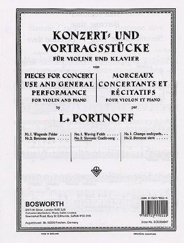 Berceuse slave - Leo Portnoff - Partition - Violon - laflutedepan.com