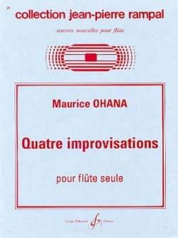 Quatre improvisations Maurice Ohana Partition laflutedepan