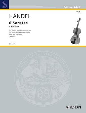 6 Sonaten Band 2 HAENDEL Partition Violon - laflutedepan