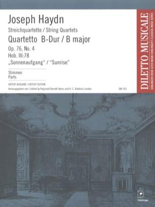 Quatuor à Cordes op. 76 n° 4 - Parties HAYDN Partition laflutedepan