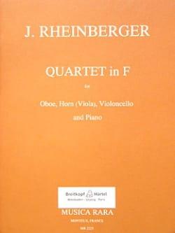 Quartet in F - Oboe horn viola cello piano RHEINBERGER laflutedepan