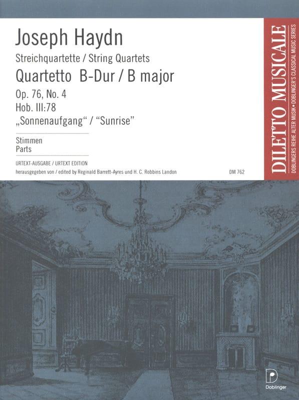 Quatuor à Cordes op. 76 n° 4 - Parties - HAYDN - laflutedepan.com