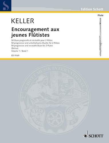 Encouragement Aux Jeunes Flûtistes Volume 1 - 2 Flûtes - laflutedepan.com