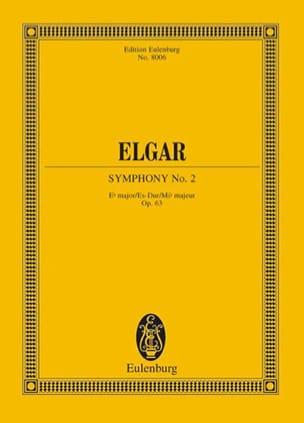 Symphonie Nr. 2 Es-Dur op. 63 - Partitur ELGAR Partition laflutedepan