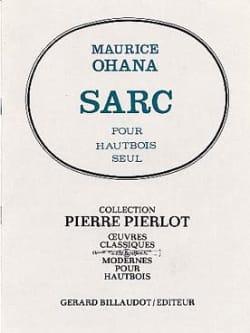 Sarc Maurice Ohana Partition Hautbois - laflutedepan