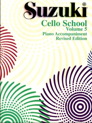 Cello School Volume 5 - Piano Accompaniment SUZUKI laflutedepan