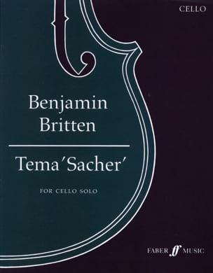 Tema 'Sacher' BRITTEN Partition Violoncelle - laflutedepan