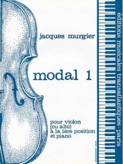 Modal 1 Jacques Murgier Partition Violon - laflutedepan