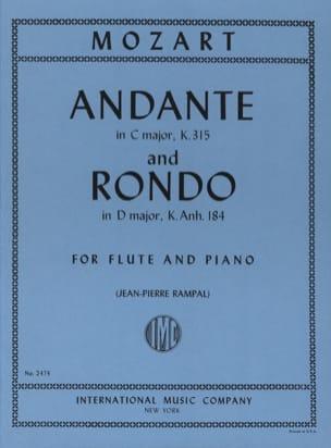 Andante et Rondo MOZART Partition Flûte traversière - laflutedepan