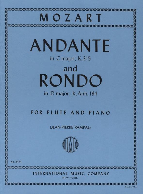 Andante et Rondo - MOZART - Partition - laflutedepan.com
