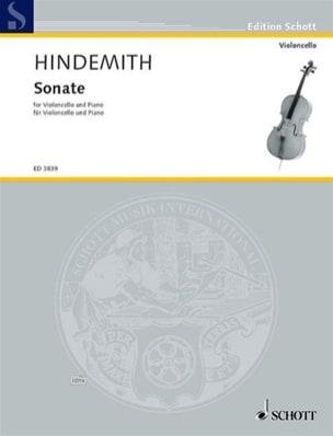 Sonate 1948 HINDEMITH Partition Violoncelle - laflutedepan