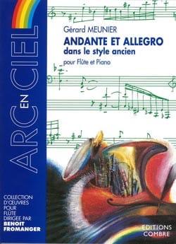 Andante et Allegro Gérard Meunier Partition laflutedepan