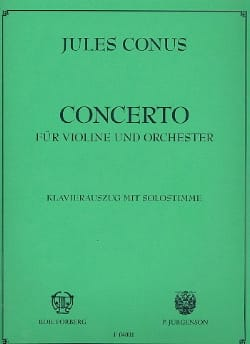 Concerto pour violon Julius Conus Partition Violon - laflutedepan