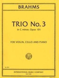 Trio n° 3 in C minor op. 101 -Parts BRAHMS Partition laflutedepan
