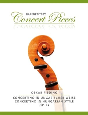 Concertino In Hungarian Style Op.21 Oskar Rieding laflutedepan