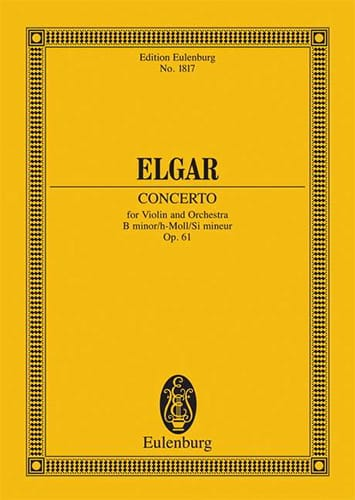 Violin-Konzert H-Moll, Op. 61 - Conducteur - ELGAR - laflutedepan.com