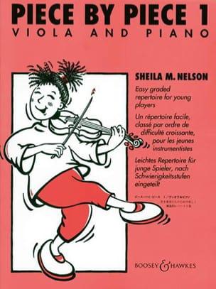 Piece By Piece Viola Volume 1 Sheila M. Nelson Partition laflutedepan