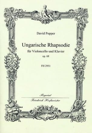Ungarische Rhapsodie op. 68 David Popper Partition laflutedepan