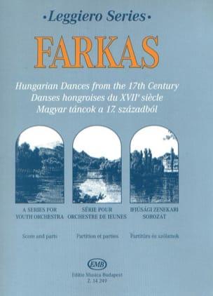 Danses Hongroises du 17° Siècle Ferenc Farkas Partition laflutedepan