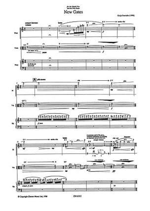 Kaija Saariaho - New Gates - flute, viola and harp - Score - Partition - di-arezzo.com