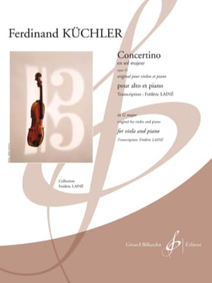 Concertino en Sol Majeur, opus 15 - Alto et piano laflutedepan