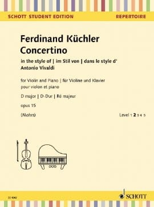Concertino, op. 15 Ferdinand Küchler Partition Violon - laflutedepan