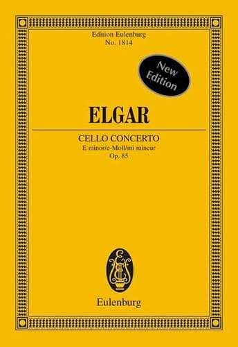 Concerto Pour Violoncelle et Orchestre En Mi Mineur Op. 85 - Conducteur - laflutedepan.com