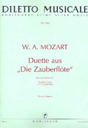 Duette aus Die Zauberflöte - MOZART - Partition - laflutedepan.com