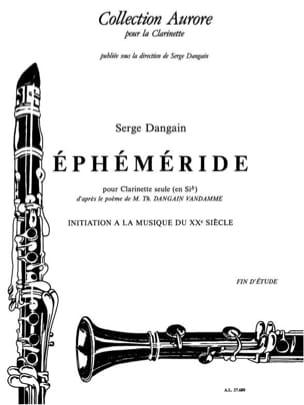 Ephéméride Serge Dangain Partition Clarinette - laflutedepan