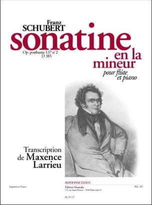 SCHUBERT - Sonatine the minor op. posth. 137 n ° 2 D. 385 - Piano flute - Partition - di-arezzo.com