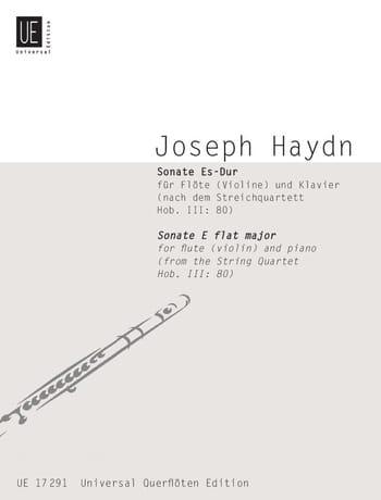 Sonate Es-Dur nach Hob. 3 : 80 - Flöte Violine u. Klavier - laflutedepan.com