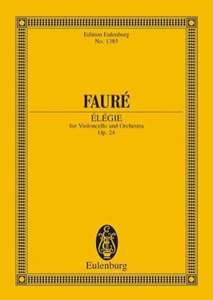Elégie FAURÉ Partition Petit format - laflutedepan