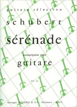 Sérénade SCHUBERT Partition Guitare - laflutedepan