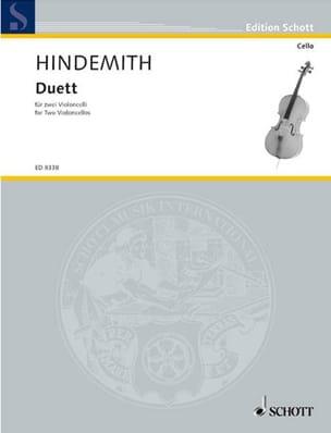 Duett - 2 Cellos HINDEMITH Partition Violoncelle - laflutedepan