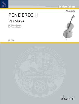 Per Slava 1986 PENDERECKI Partition Violoncelle - laflutedepan