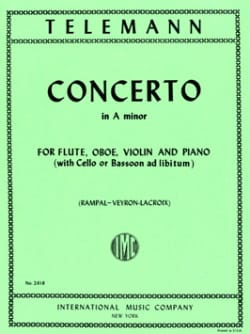 Concerto A minor -Flute oboe violin piano TELEMANN laflutedepan