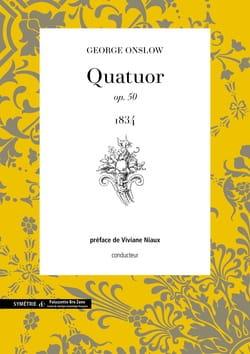 Quatuor N° 25 Opus 50 Georges Onslow Partition Quatuors - laflutedepan
