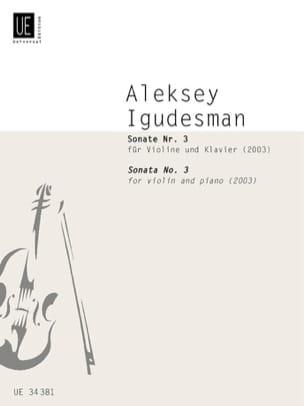 Sonate N°3 2003 Aleksey Igudesman Partition Violon - laflutedepan