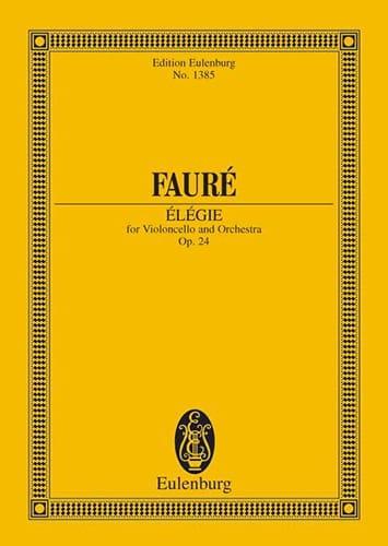Elégie - FAURÉ - Partition - Petit format - laflutedepan.com