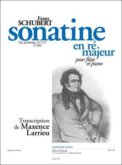 Sonatine ré majeur op. posth. 137 n° 1 D. 384 - Flûte piano - laflutedepan.com