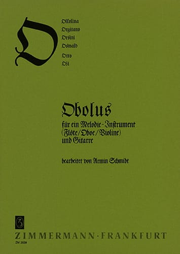 ABC-Reihe - O - Flöte Oboe, Violine Gitarre - laflutedepan.com