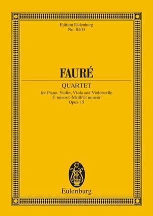 Gabriel Fauré - Klavier-Quartett N ° 1 - Driver - Partition - di-arezzo.co.uk