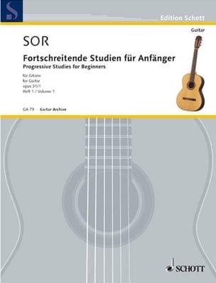 Forschreitende Studien für Anfänger op. 31 - Volume 1 SOR laflutedepan