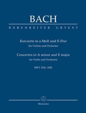 Konzerte a-moll BWV 1041 und E-Dur BWV 1042 für Violine, Streicher und Bc.Urtext laflutedepan