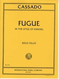 Fugue in the style of Handel Gaspar Cassado Partition laflutedepan